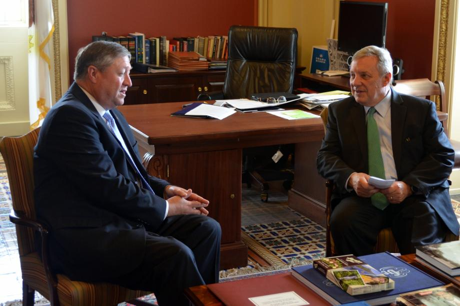 U.S. Senator Dick Durbin (D-IL) met with Secretary of the Air Force Michael Donley and Under Secretary of the Air Force Eric Fanning.