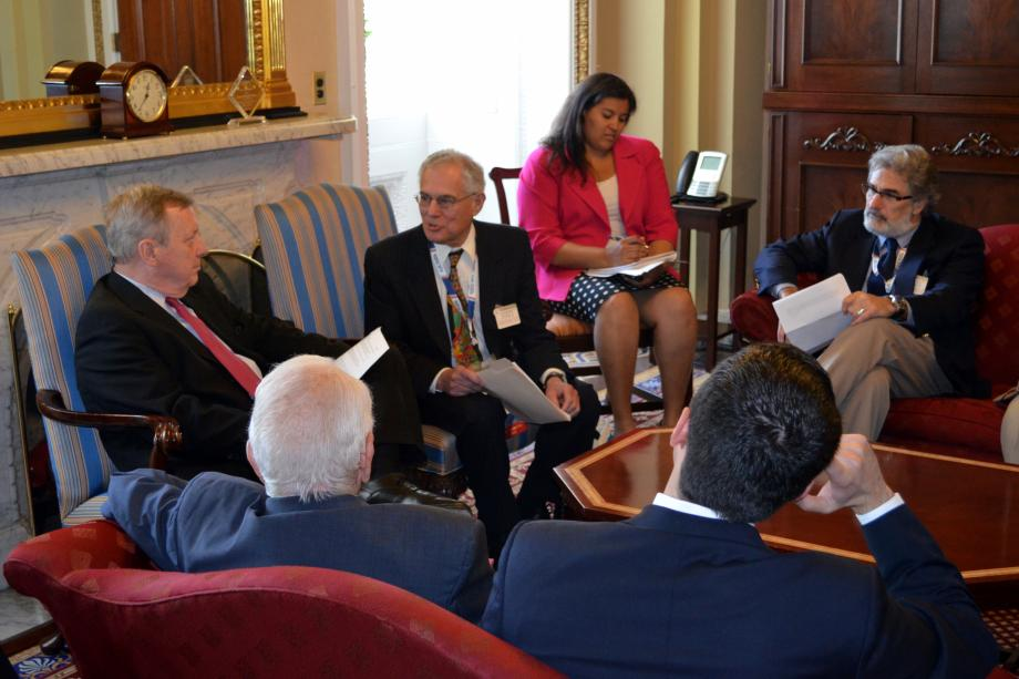 U.S. Senator Dick Durbin (D-IL) met with members of the American Jewish Committee and Hellenic American Leadership Council to discuss the relationship between the U.S., Israel, and Greece.