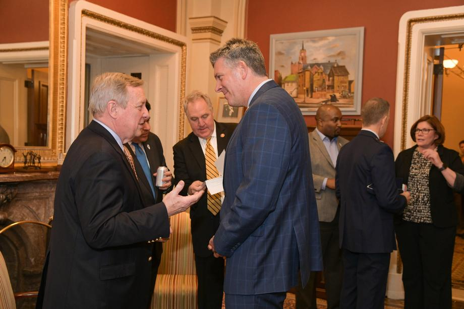 Durbin Hosts Governor JB Pritzker, Illinois Congressional Delegation, For Reception And Dinner