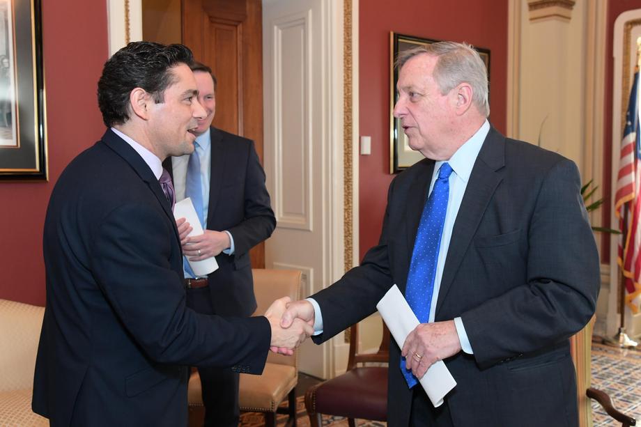 Durbin Meets Venezuelan Interim President's DC Representative