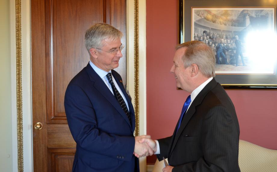 Best Buy CEO Hubert Joly met with U.S. Senator Dick Durbin (D-IL) today to discuss the Marketplace Fairness Act.
