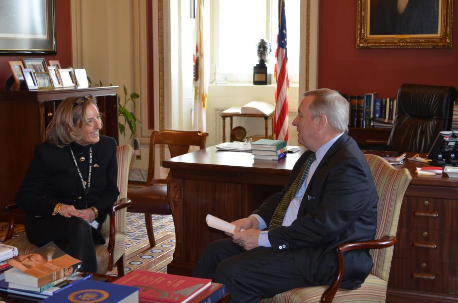 U.S. Senator Dick Durbin (D-IL) sat down with Ambassador to Haiti Pamela White today. The two discussed the current conditions in Haiti and the progress being made after the 2010 earthquake which struck Port-Au Prince.