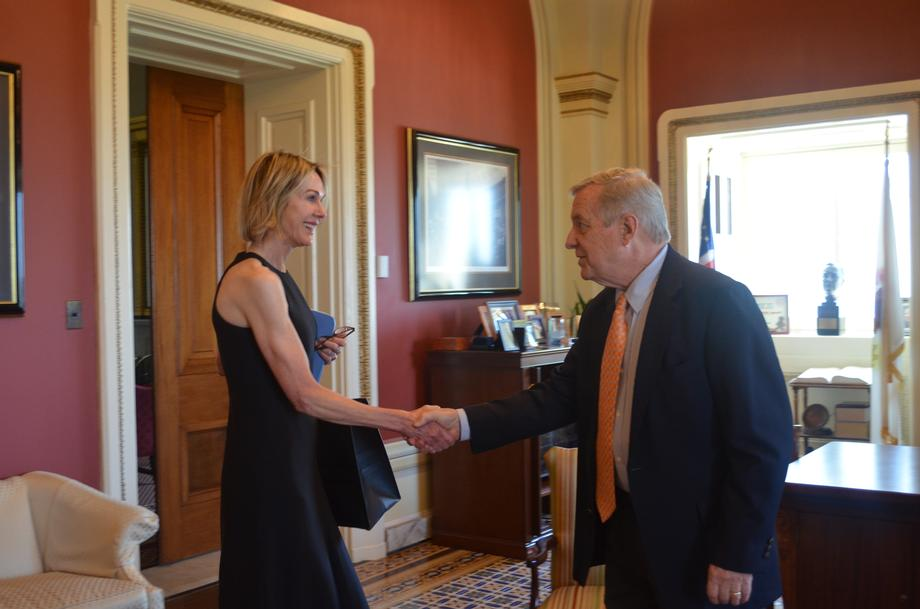Durbin Meets With Trump Nominee To Be U.S. Ambassador To The UN Kelly Craft