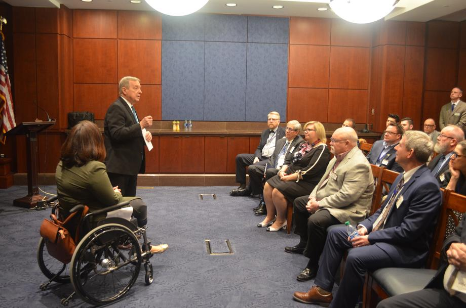 Durbin Meets With Bloomington-Normal One Voice