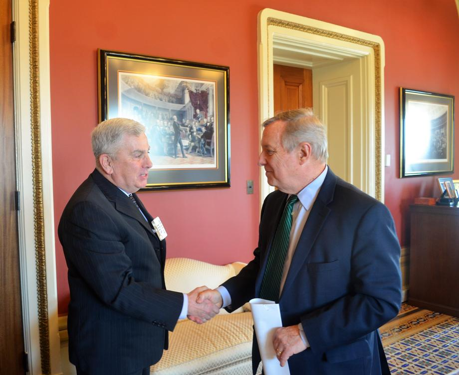 Durbin Meets With General John Abizaid (Ret.), Nominee To Be Ambassador To Saudi Arabia