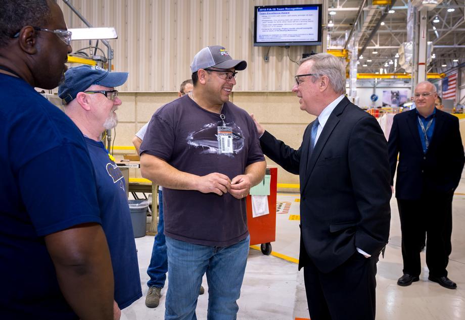 Durbin Visits Boeing's St. Louis Facility