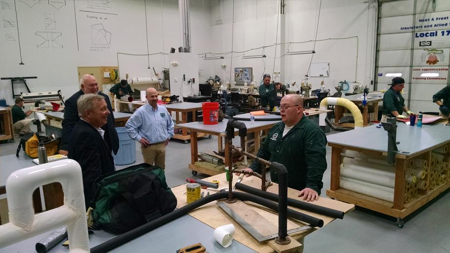 I toured the training center and headquarters of Local 17 of the Heat & Frost Insulators Union in Tinley Park on Tuesday, September 1.