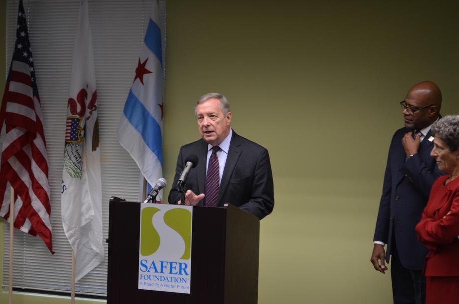 Durbin Discusses Criminal Justice Reform at Safer Foundation