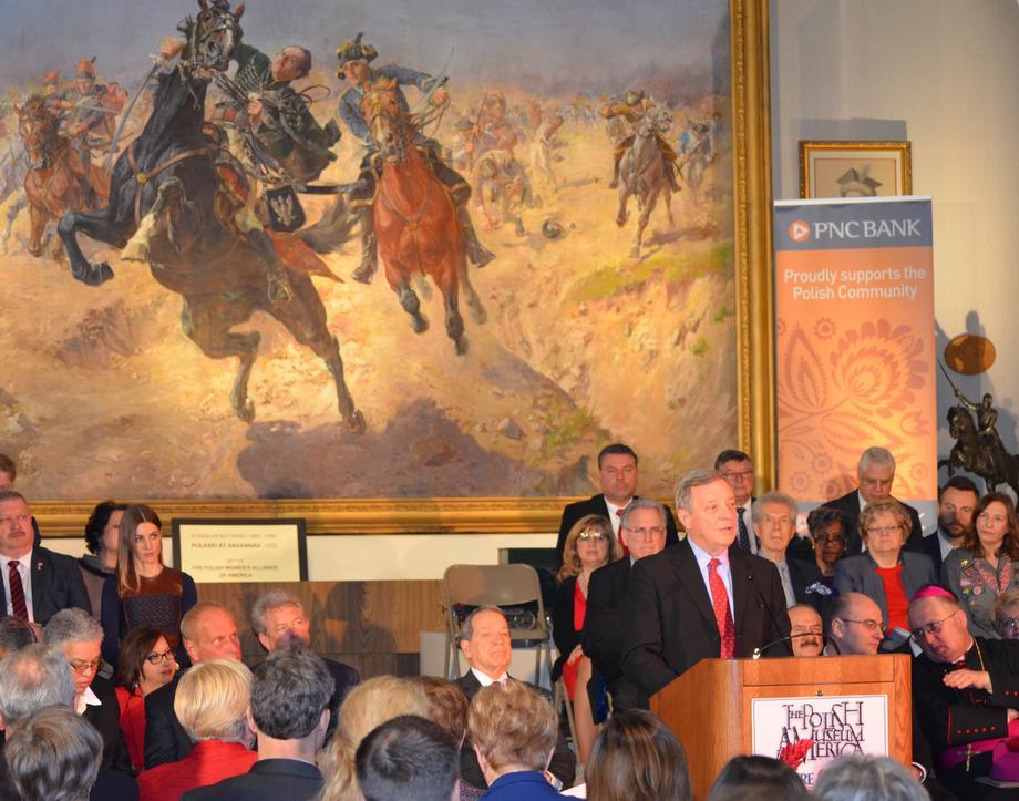 March 6, 2017 - Senator Durbin spoke at the annual observance of Casimir Pulaski Day in Chicago