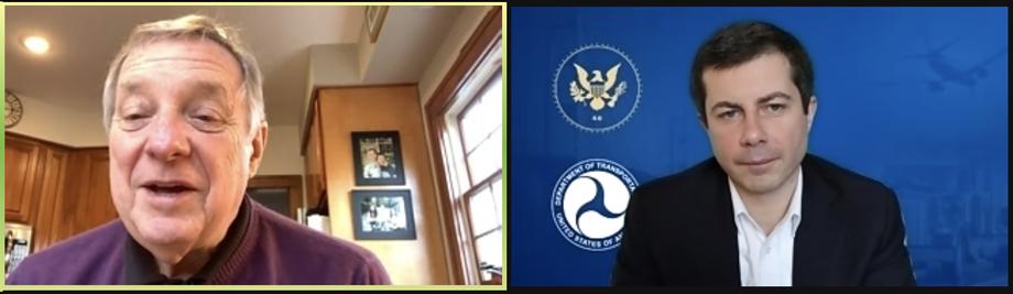 Durbin Discusses Transportation Infrastructure with Pete Buttigieg, Biden Nominee for Secretary of Transportation