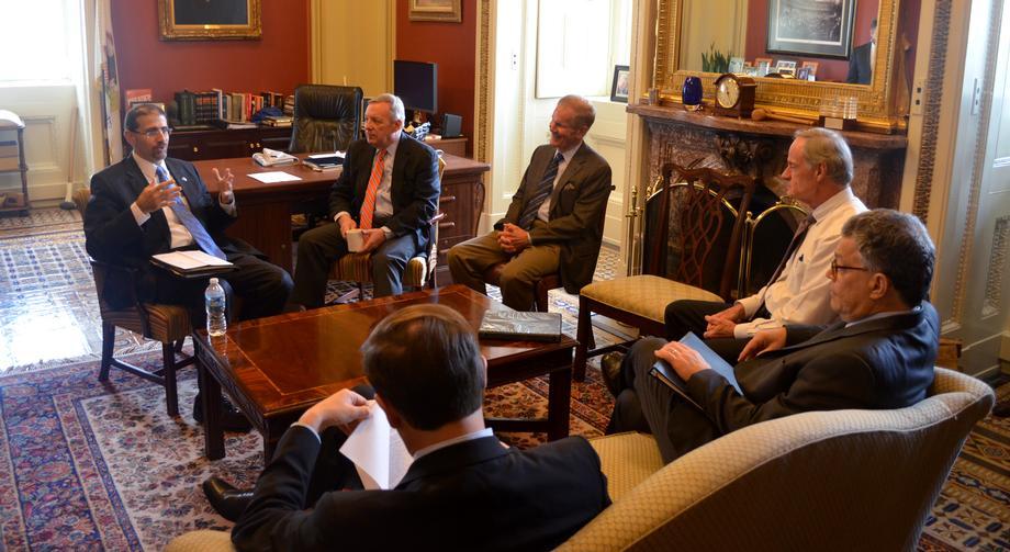 November 5th, 2015 - Senators Nelson, Carper, Franken, Murphy, and I had a productive discussion on Israel with Ambassador Shapiro.