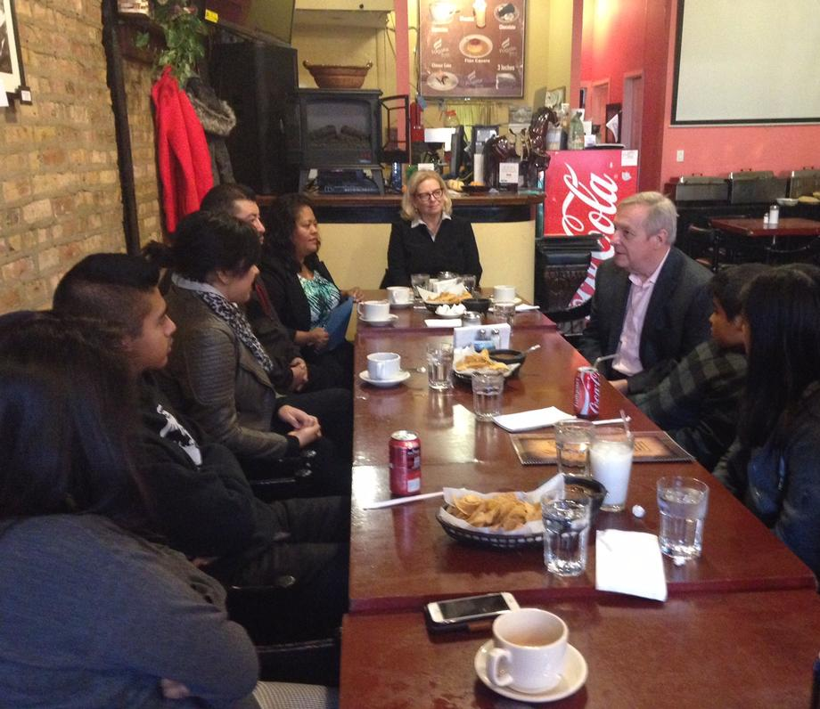 November 21, 2015 - I joined a DAPA-eligible family for a meal in Chicago to hear their story and discuss the need for comprehensive immigration reform