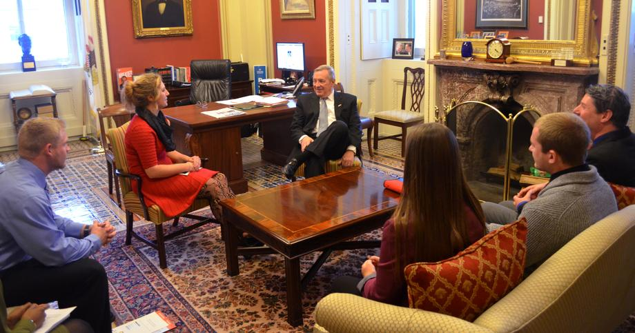 November 17th, 2015 - I met with students from Blackburn College to discuss college affordability.