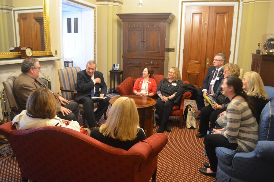 Durbin Meets With Illinois Chapter Of The United Postmasters And Managers Of America